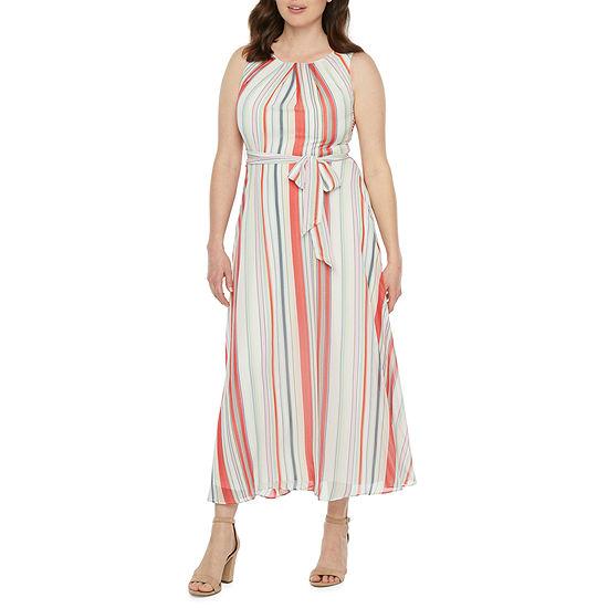 R & K Originals Sleeveless Striped Maxi Dress