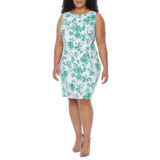 Alyx-Plus Sleeveless Floral Sheath Dress