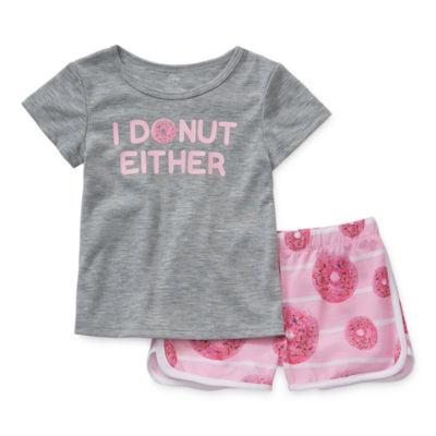 Sleep Chic Toddler Girls 2-pc. Shorts Pajama Set