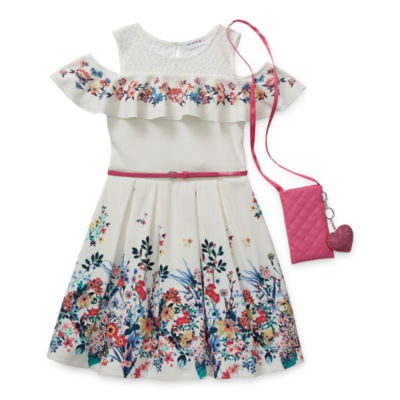 Knit Works Little & Big Girls Belted Sleeveless Skater Dress