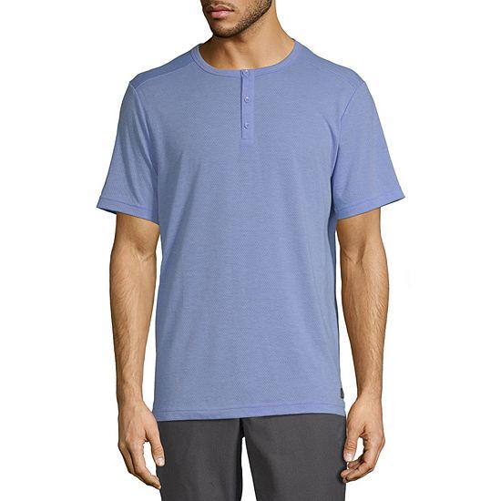 Msx By Michael Strahan Mens Henley Neck Short Sleeve T-Shirt