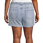 "Vanilla Star Womens High Rise 2 1/2"" Denim Short-Juniors Plus"