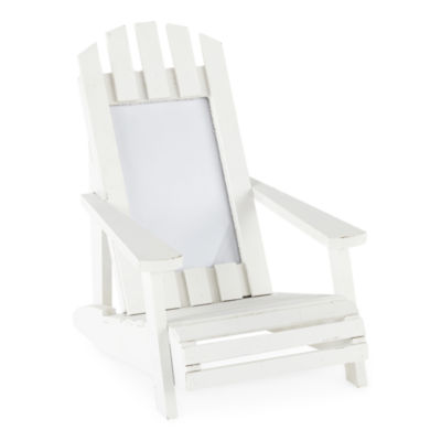JCPenney Home White Adirondack 1-Opening Tabletop Frame