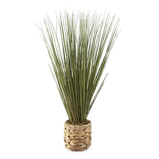 JCPenney Home Tall Grass In Seagrass Pot Floral Arrangement