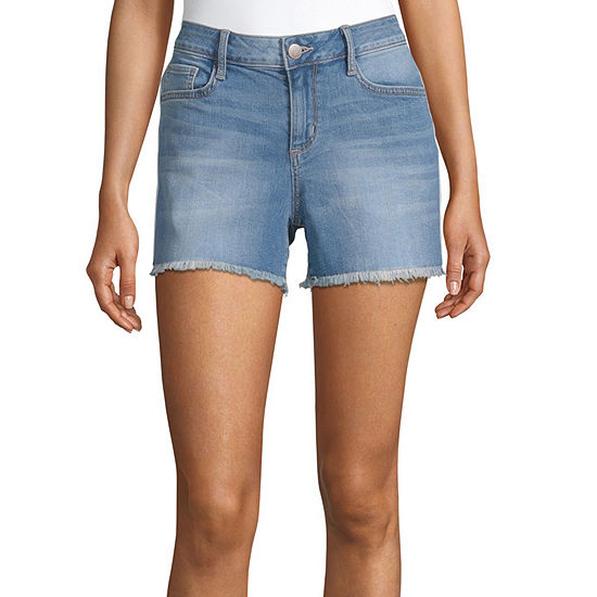 "a.n.a Womens Mid Rise 3.5"" Side Stripe Denim Short"