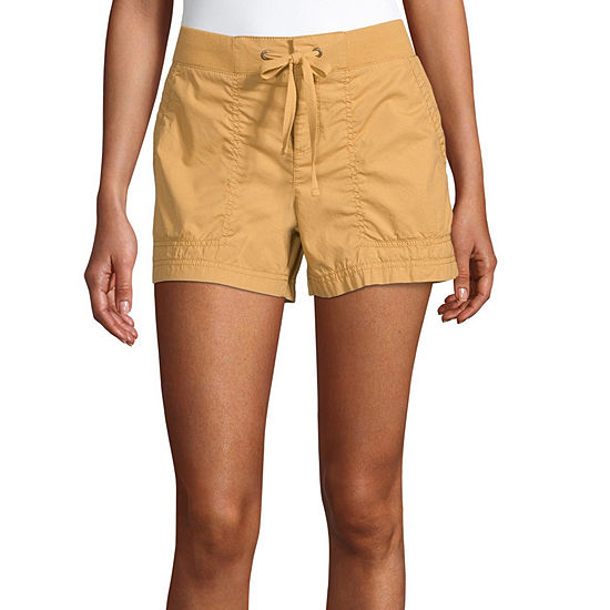 a.n.a Womens Mid Rise Pull-On Short