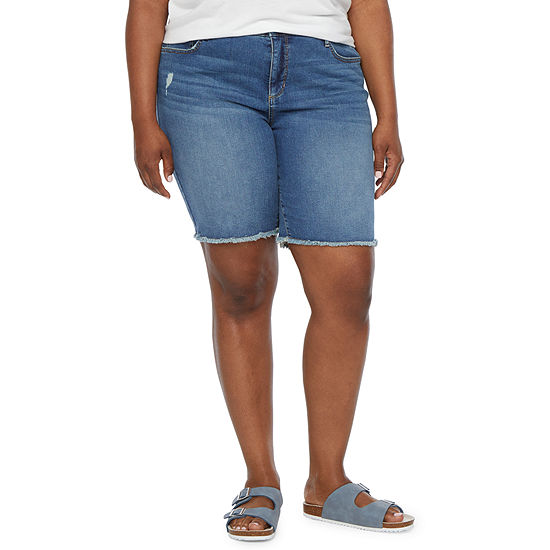 "a.n.a-Plus Womens 9"" Denim Bermuda Short"