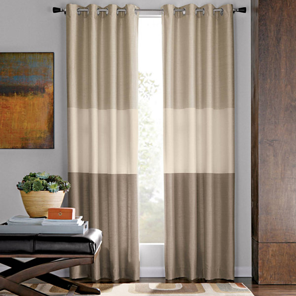 Studio Trio Grommet Top Curtain Panel Jcpenney