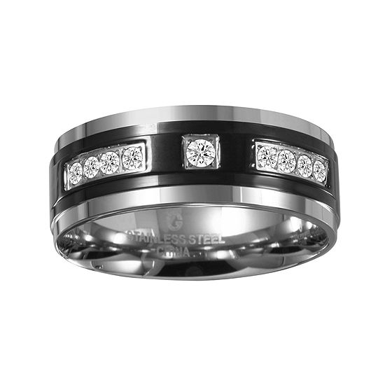 Mens ¼ CT. T.W. Diamond 8mm Black Stainless Steel Band