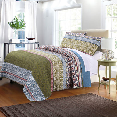 Greenland Home Fashions Shangri-La Quilt Set