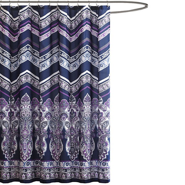 Intelligent Design Kinley Printed Shower Curtain