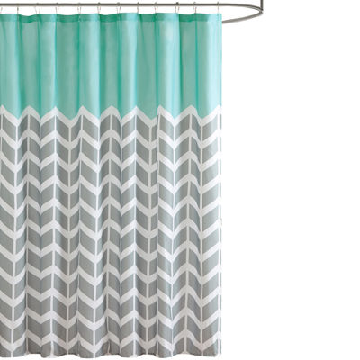Intelligent Design Laila Printed Shower Curtain