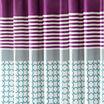 Intelligent Design Lacy Microfiber Shower Curtain