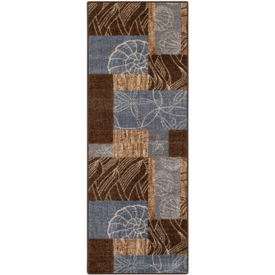 Ocean Collage Runner Rug