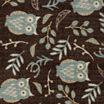 Owl Botanical Rectangular Rug