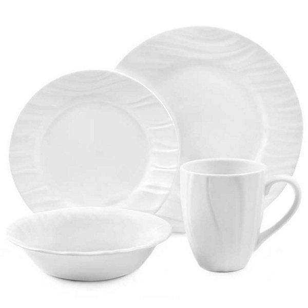 Corelle® Boutique™ Swept Wide-Rim 16-pc. Dinnerware Set  sc 1 st  JCPenney & Corelle Boutique Swept Wide Rim 16 pc Dinn