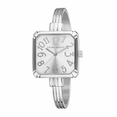 Laura Ashley Womens Silver Tone Bangle Watch-LA31024SS