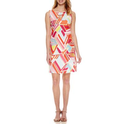 Ronni Nicole Sleeveless Geometric Sheath Dress
