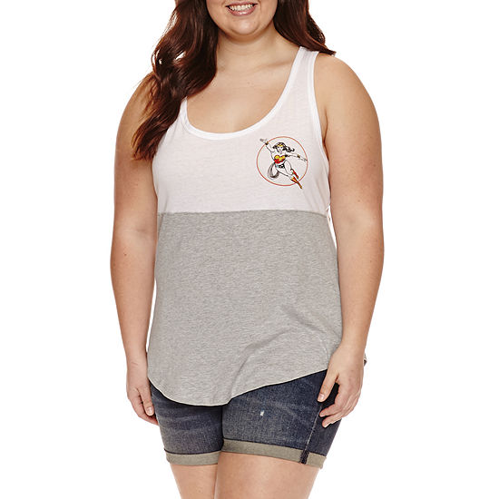 ea9a4d54581e59 Womens Scoop Neck Sleeveless Wonder Woman Tank Top Juniors Plus - JCPenney