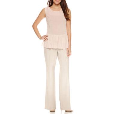 jcpenney.com | Worthington Sleeveless Drop-Waist Peplum Top and Curvy Fit Pants