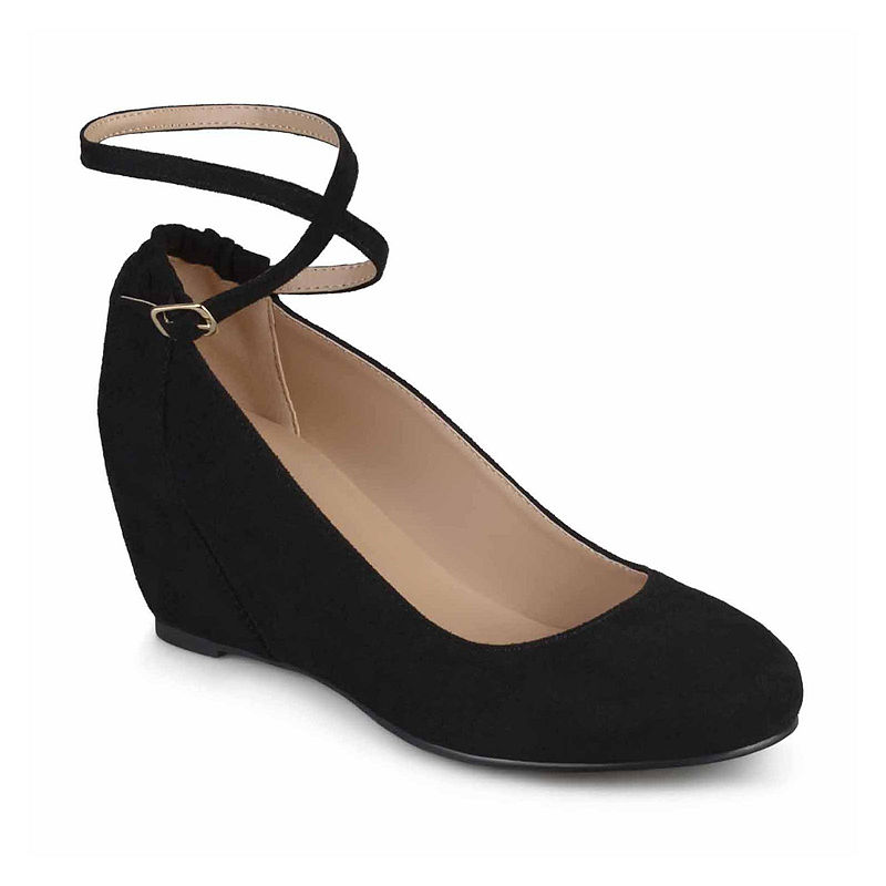 1940s Style Shoes, 40s Shoes Journee Collection Tibby Womens Slip-On Shoes Size 10 Medium Black $59.49 AT vintagedancer.com