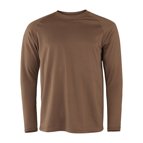 Military Fleece Crew Neck Long Sleeve Thermal Shirt