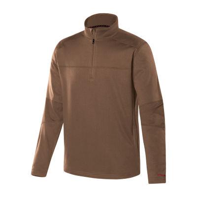 Military Fleece Mock Neck Long Sleeve Thermal Shirt