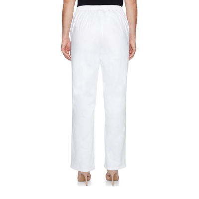 Alfred Dunner Sun City Woven Flat Front Pants