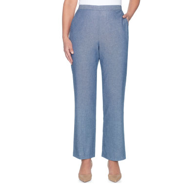 Alfred Dunner Blues Traveler Woven Flat Front Pants