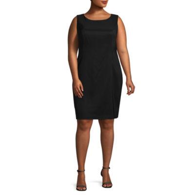 Alyx Sleeveless Solid Sheath Dress - Plus