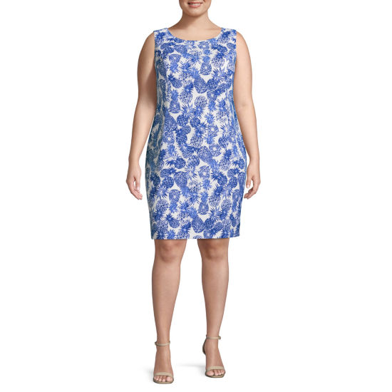 Alyx Sleeveless Print Sheath Dress - Plus