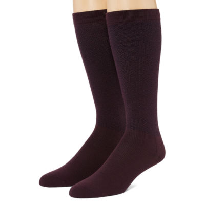 Dr. Scholl's Dr Scholls Graduated Compression 2 Pair Over the Calf Socks-Mens