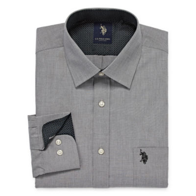 U.S. Polo Assn. Long Sleeve Yarn Dyed Woven Dress Shirt - Slim