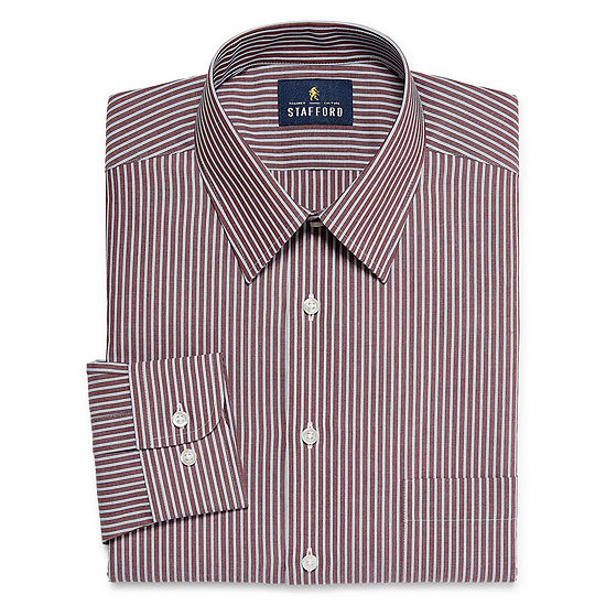 Stafford Super Shirt Dress Shirt with Comfort Stretch, Stain Repel and Wrinkle Free