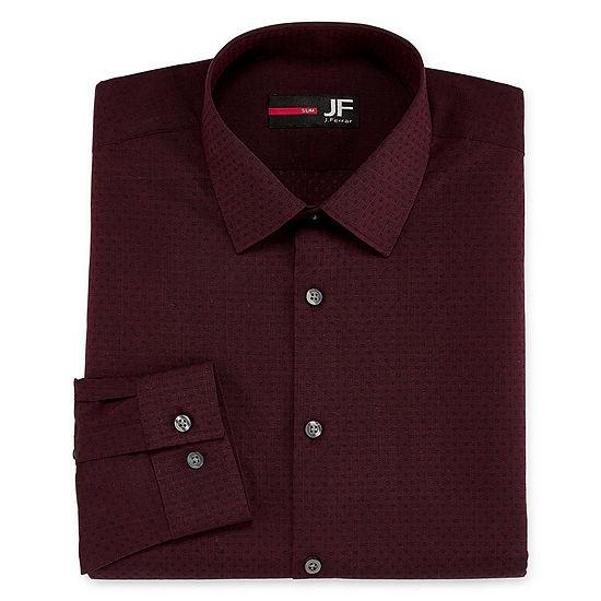 JF J.Ferrar Easy-Care Solid Big And Tall Long Sleeve Dress Shirt