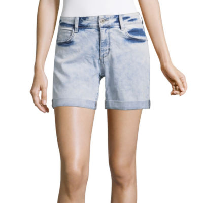 "Arizona Womens Mid Rise 6"" Bermuda Short-Juniors"