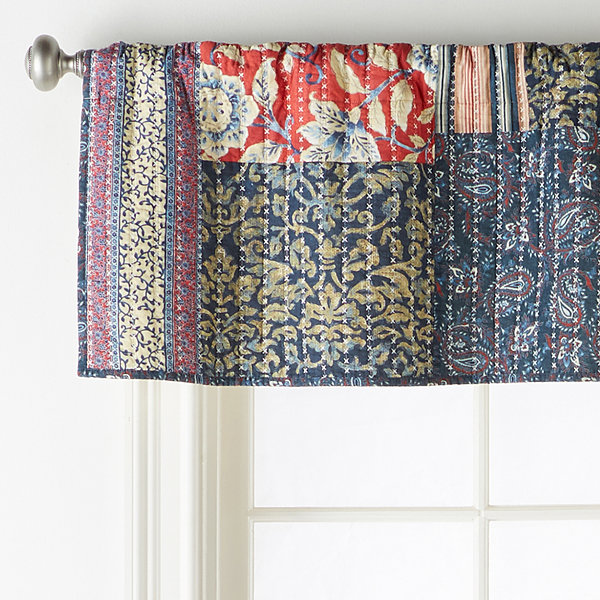 JCPenney Home Antibes Rod-Pocket Tailored Valance