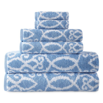 Royal Velvet Riviera Yarn Dyed 6pc Towel Set