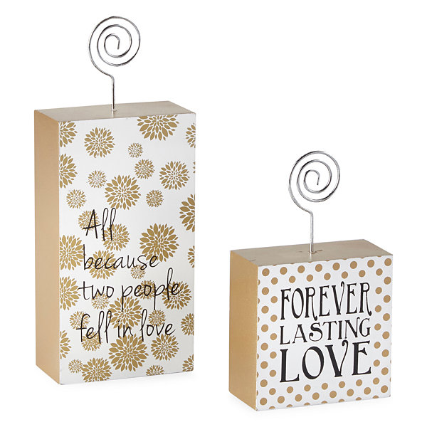 JCPenney Home Love Photo Holder Set 2-pc.