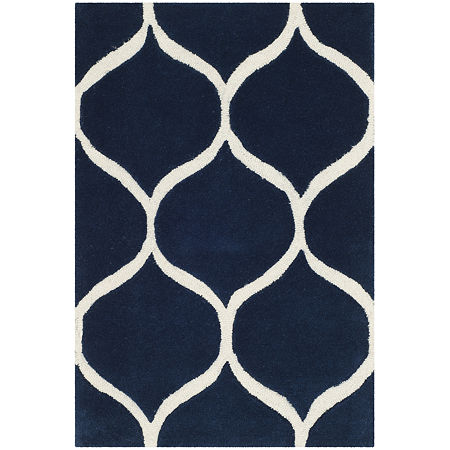 Safavieh Archibald Geometric Hand-Tufted Wool Rug. One Size . Blue