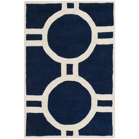 Safavieh Brion Geometric Hand-Tufted Wool Rug. One Size . Blue