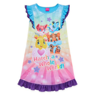 Hatchimals Short Sleeve Nightgown-Big Kid Girls