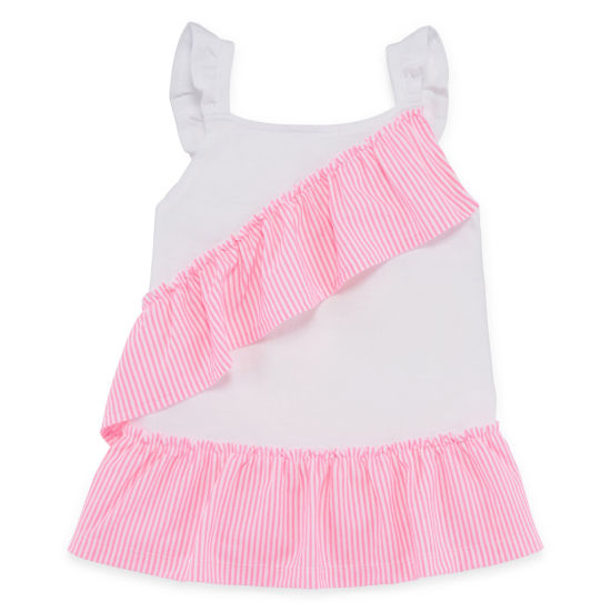 Okie Dokie Ruffle Tank Top - Toddler Girls