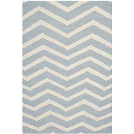 Safavieh Carter Chevron Hand-Tufted Wool Rug. One Size . Blue