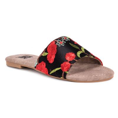 Muk Luks Mellanie Womens Flat Sandals