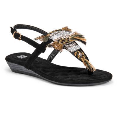 Muk Luks Lucille Womens Flat Sandals