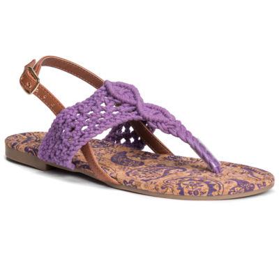 Muk Luks Lorena Womens Flat Sandals