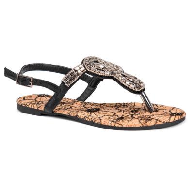 Muk Luks Thalia Womens Flat Sandals