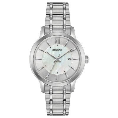 Bulova Womens Silver Tone Bracelet Watch-96m140