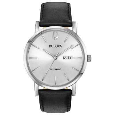 Bulova Mens Black Strap Watch-96c130